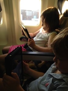 On the plane - thank God for iPads!
