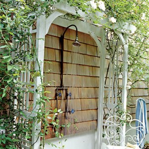 Outdoor Shower Inspiration via Coastal Living